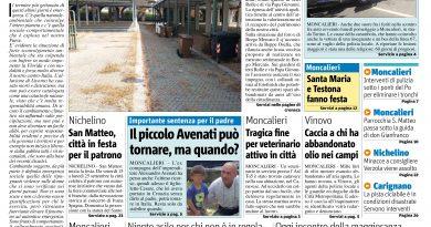 """Le notizie da Il Mercoledì: """"Opere abbadonate"""", """"Due Suore ferite in uno scontro stradale"""""""