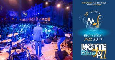 Sabato 28 ottobre NOTTE BLUE DEL JAZZ – Moncalieri Jazz Festival 2017
