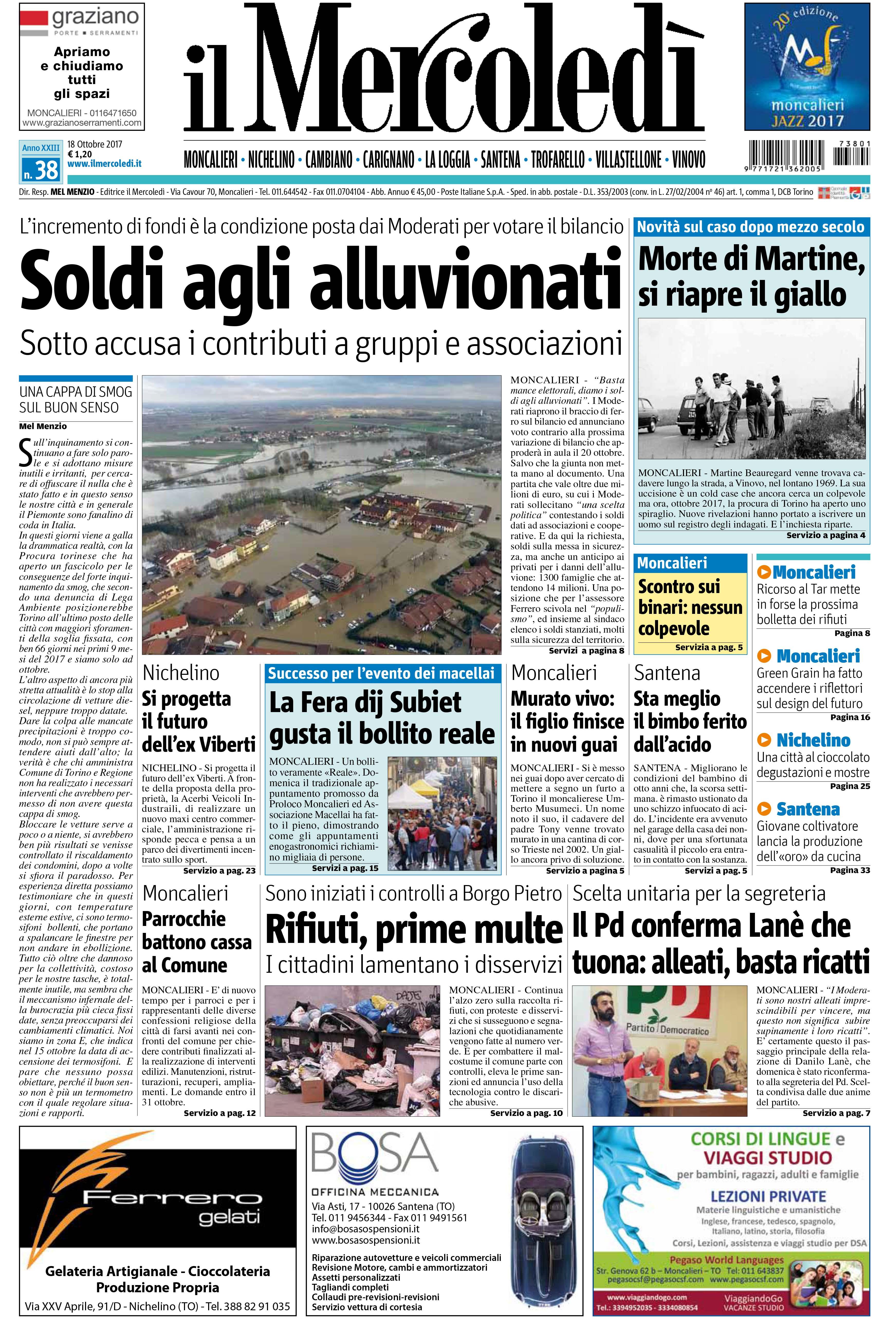Le notizie da il mercoled soldi agli alluvionati la - Il mercato della piastrella moncalieri orari ...