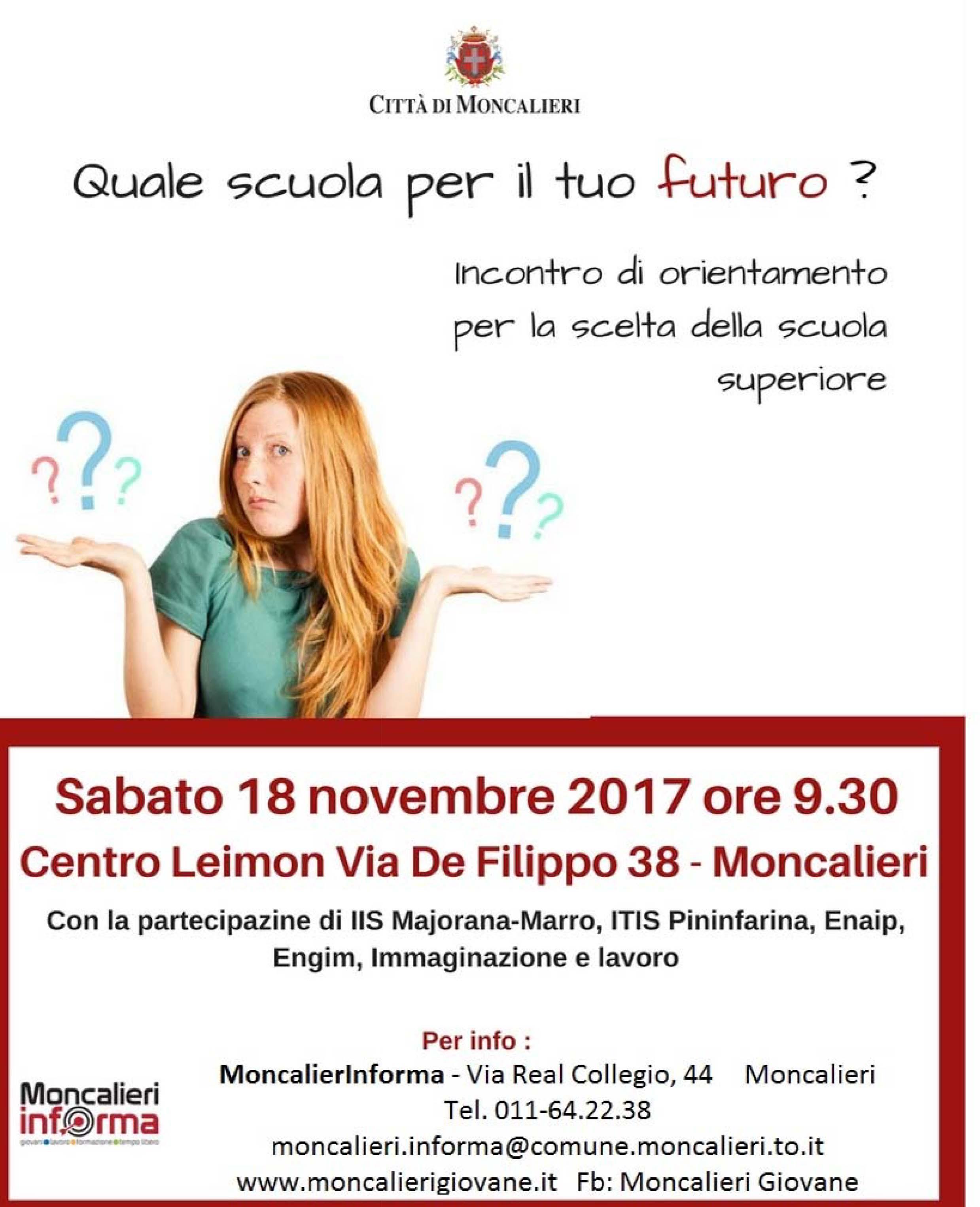 Studiare a Moncalieri