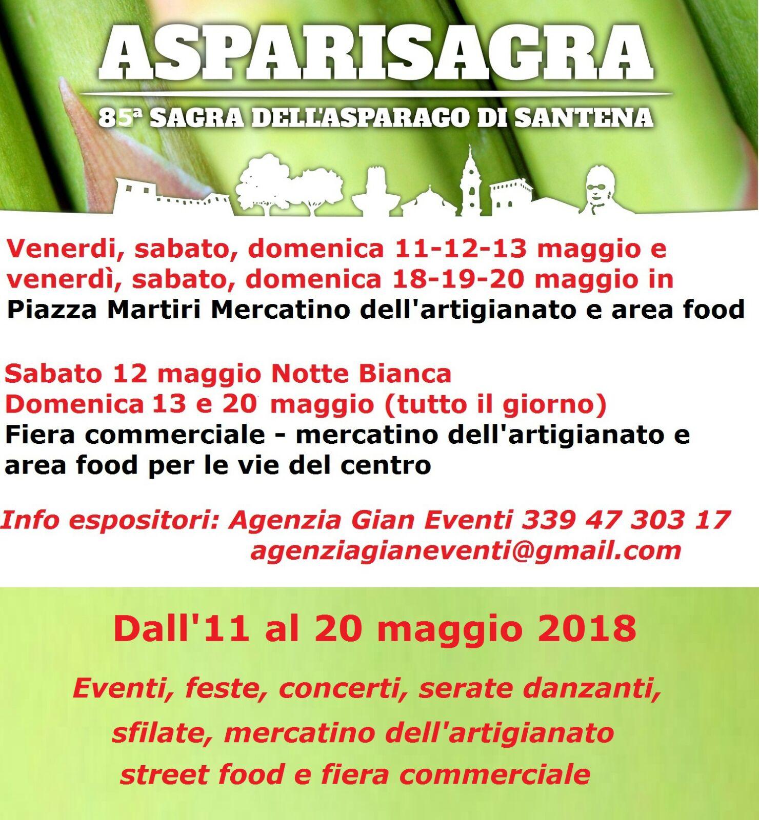 Asparisagra - 85* Sagra dell'asparago di Santena.