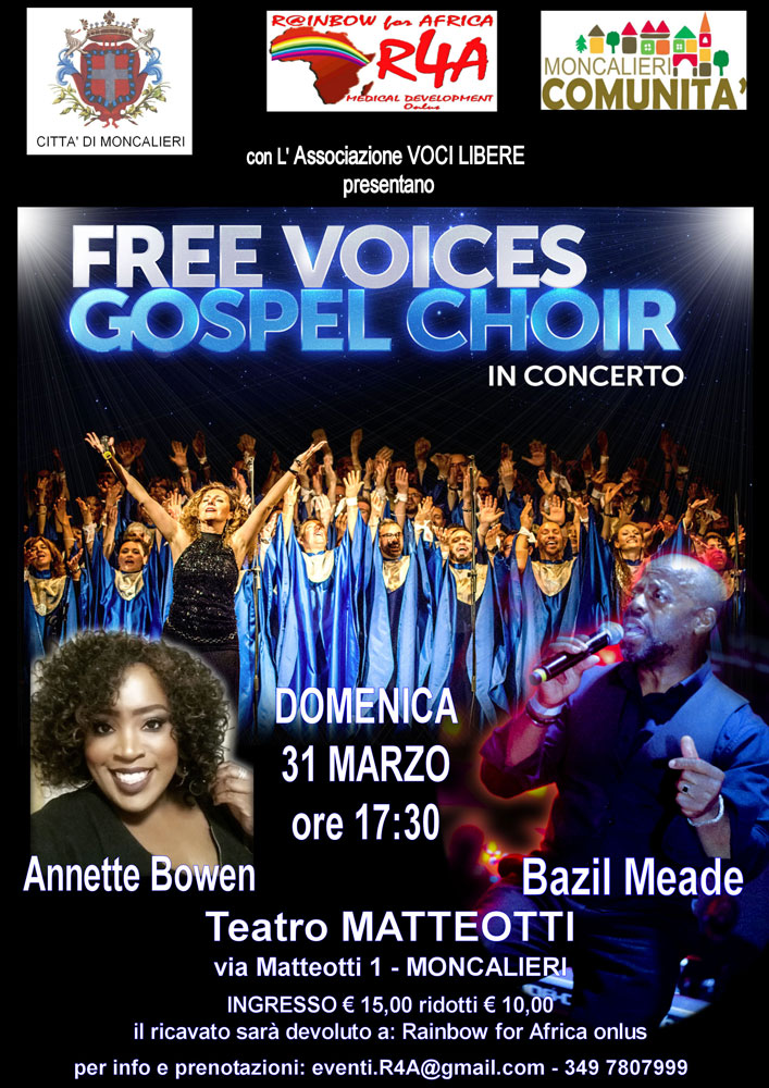 Free voices gospel choir in concerto