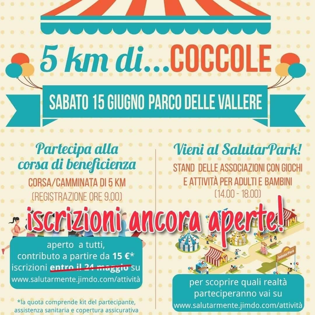 5 km di Coccole: corsa/camminata e festa di beneficienza!