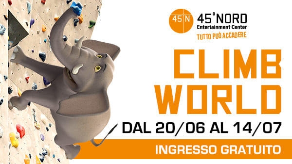 Climb World, l'ebrezza dell'arrampicata in tutta sicurezza