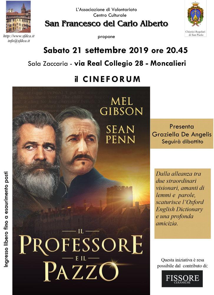 CINEFORUM IL PROFESSORE E IL PAZZO