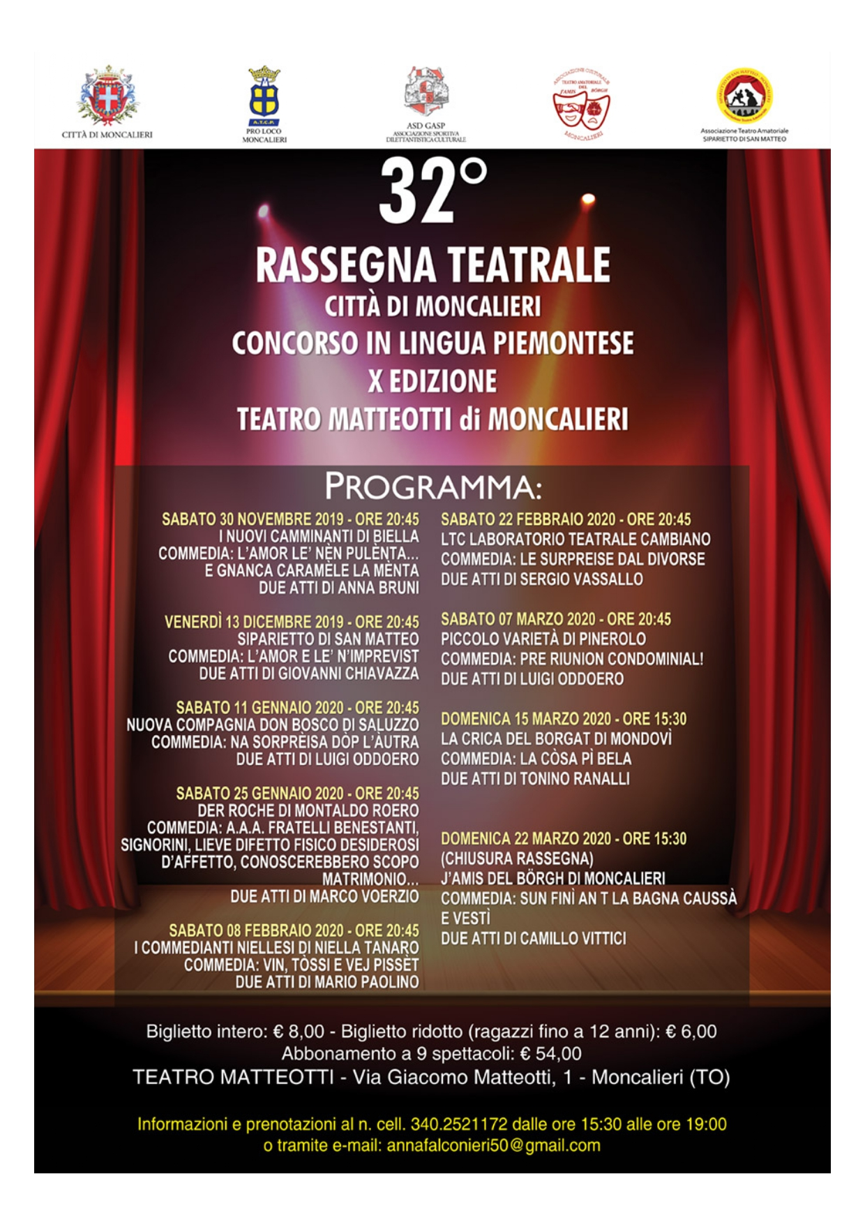 XXXII RASSEGNA TEATRALE DIALETTALE - L'AMOR E LE' N'IMPREVIST