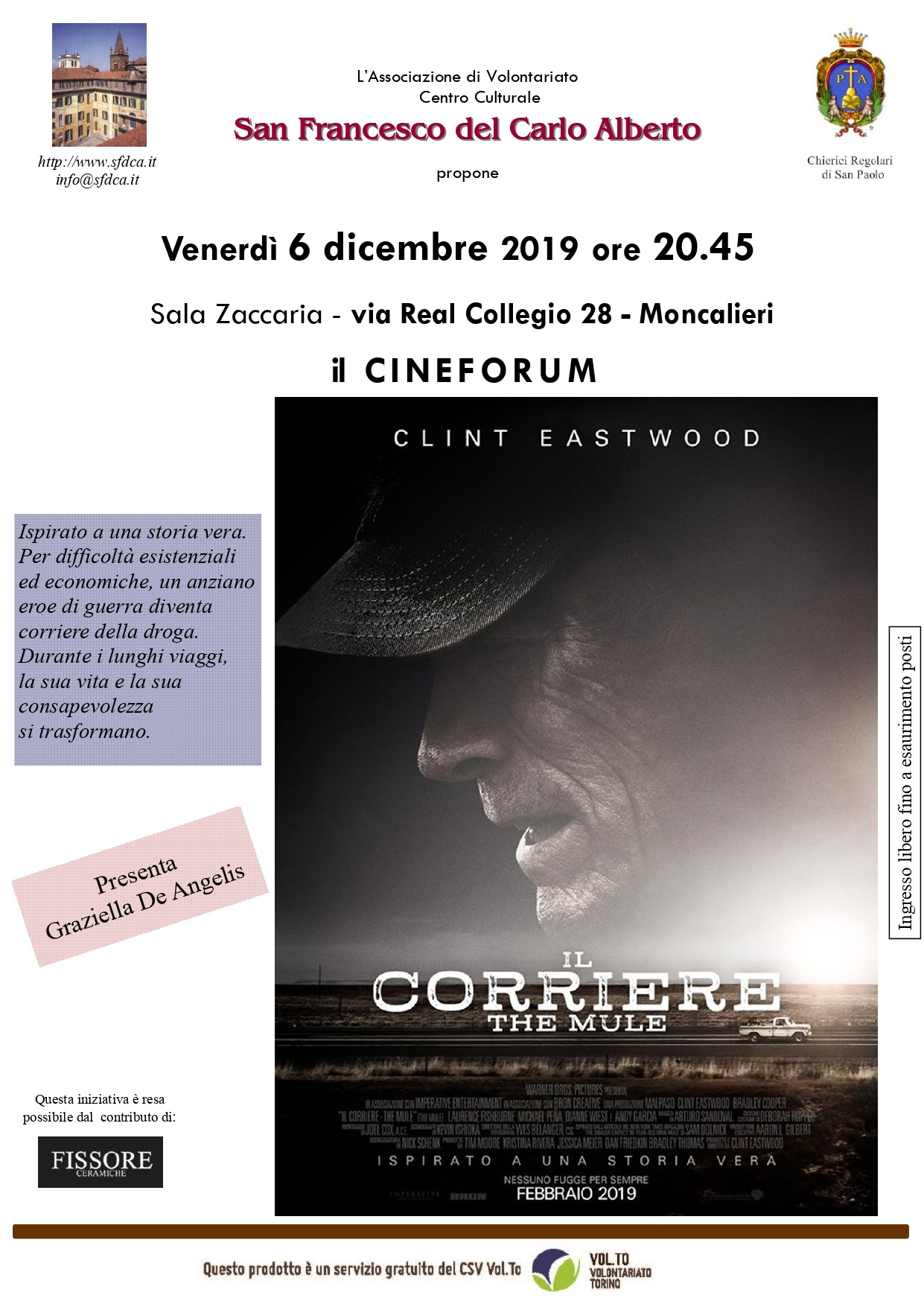 CINEFORUM - IL CORRIERE - THE MULE