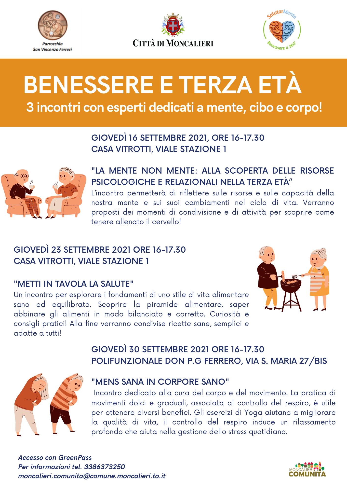 BENESSERE E TERZA ETÀ - Giovedì 16 settembre