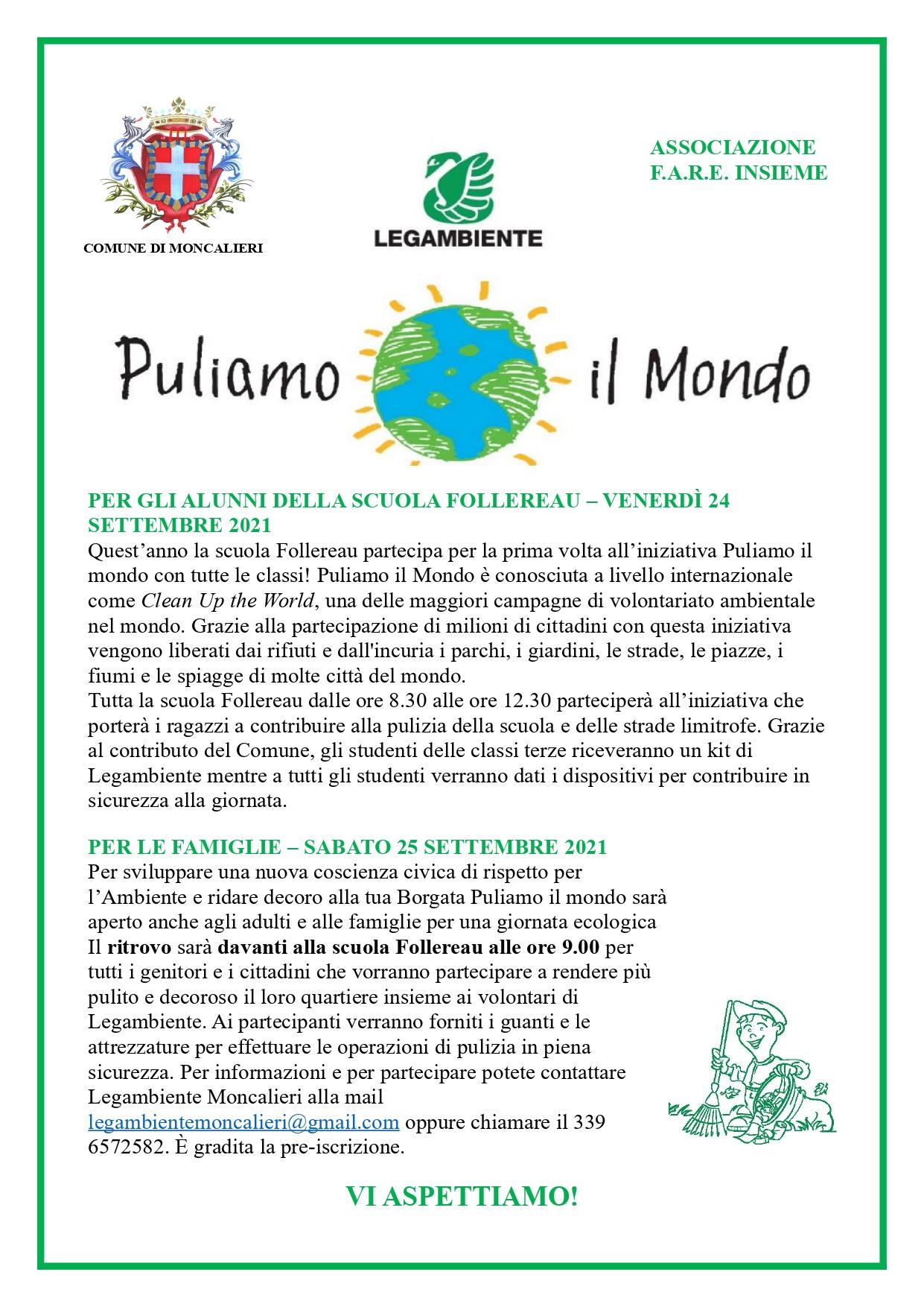 PULIAMO IL MONDO - La campagna Clean Up the World